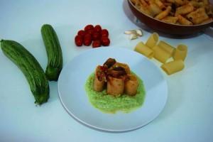 Paccheri al tombarello su crema di zucchine di Giada Dall'Era