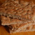 Focaccia alle cipolle con grano saraceno senza glutine