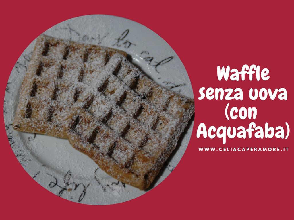 Waffle acquafaba vegan